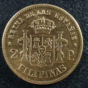2 pesos 1861 Philippines Spanish colonies KM#143 gold Pilipinas Filipinas