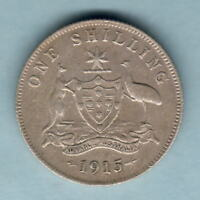 Australia.  1915 Shilling... Trace Lustre - F+/aVF
