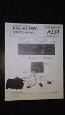 Kenwood krc-640 650 service manual original repair book stereo car radio tape