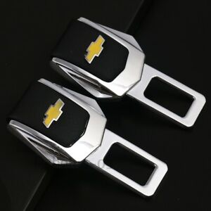 2x Universal Car Safety Seat Belt Buckle Clip Alarm Stopper Clamp for Chevrolet