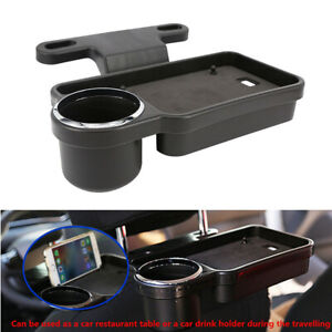 Car Rear Back Seat Table Drink Food Cup Tray Holder Desk Stand Mount Storage Kit