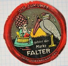 Falter tee cocoa chocolate tea gnome basket package pelican ad poster stamp seal