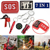 SOS Emergency 7Pack Outdoor Camping Hiking Hunting Survival Gear Scouts Kit Tool