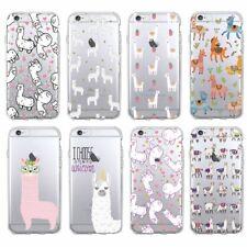 Kawaii Cute Funny Animals Lama Alpaca Soft TPU Case Cover Fits iPhone Samsung