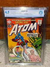 Showcase #34 CBCS 4.5 DC 1961 1st Silver Atom! Free CGC Mylar! 002 cm