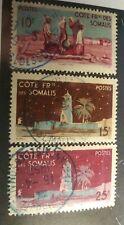 Somali Coast Scott's # 263-4 & 266.Used. Dijibouti Mosque. sal's stamp store.