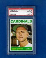 1964 Topps Baseball #278 BOBBY SHANTZ PSA 8 NM-MT ST. LOUIS CARDINALS
