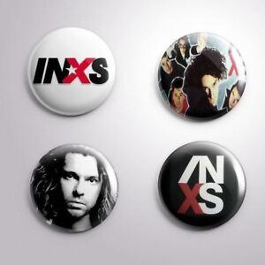 4 INXS - Pinbacks Badge Button 25mm 1''