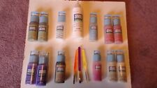 Lot of 13(12@2 oz,9 Full + 1@8 oz,Full)Gallery Glass Window Color Plaid +Brushes