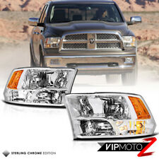 09-18 Dodge Ram Factory Quad Style Chrome Housing Clear Replacement Headlight
