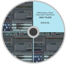 Over 63000 Sample Loops Vintage Drums Snares Claps Reason WAV Files On DVD-R DL