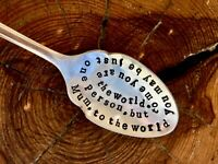 Stamped spoon - Mum, to the world..., hand stamped, Mothers day gift, gift boxed