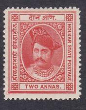 India Indore Holkar - 1889-92 - 2A Vermillion - SG8 - Mint Hinged (E12A)