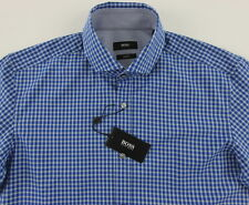 Men's HUGO BOSS Blue Gray MASON Shirt XL XLarge NWT NEW Slim Fit Amazing!