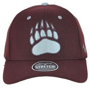 NCAA Zephyr Montana Grizzlies Maroon Flex Fit Stretch Small Medium SM Hat Cap
