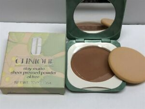 Clinique Stay-Matte Sheer Pressed Powder (05 Stay Spice), (Round) See Details!
