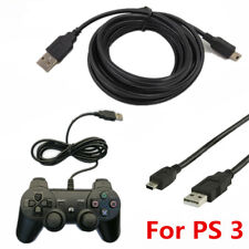 3M PS3 Play+Charging Charger USB Cables PlayStation 3 Controller GamePad 10ft