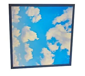 48W Sky Cloud Pattern LED Flat Slim Panel Light Ceiling Lamp + Driver 600x600 mm