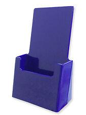 Lot of 12 BLUE Acrylic tri-fold Brochure Holders top quality Made USA rack card