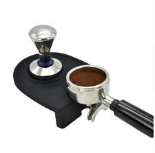 Barista Coffee Tamper Mat Rubber Silicone Black Cafe Bench Corner Accessories