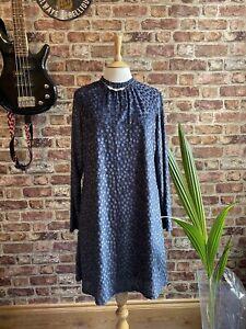 Ladies M&S Collection Grey Velvet spotty Devoire  Sizes 16, 8, 6, BNWT