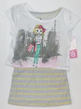 California Talk Girls 2 Piece T-Shirt  Size Small 6 NWT