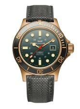 Glycine Men's GL0281 Combat Sub 42 Bronze Automatic 42mm Grey-Green Dial Watch