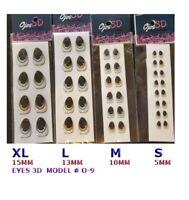 EYES STICKERS 3D OJOS MODEL#O9  AUTOADHESIVOS,PORCELAIN,CLAY,FOAM flexyble clay