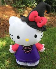 Halloween Airblown Inflatable Hello Kitty Witch Lights Up 3 Feet Gemmy