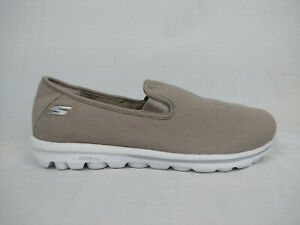 Skechers GoWalk Adorn Canvas Slip-On Taupe Sneakers Women's Size 39 EU 9 M US