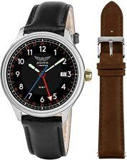 AVIATOR F-Series Men's GMT Dual Strap Quartz Watch Gift Set AVW2168G379