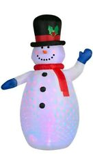 6.5ft Brand New LED Inflatable Snowman With Hat,Scarf Christmas Decorations