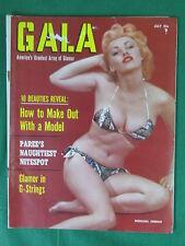 GALA Magazine CARNIVAL OF BEAUTY July 1957 Vol. 8, No. 2 DONALDA JORDON Cover