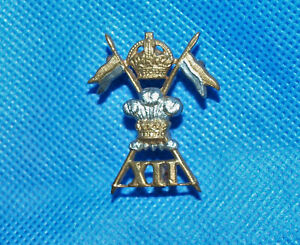 Military Army Cap Badge with Lugs - 12th Royal Lancers Regiment