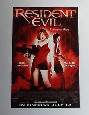 Resident Evil 2002 Original UK Mini Quad Cinema Poster