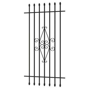 Window Security Bar Spear Point Rust Resistant Black Tubular Steel 30 X 54 inch