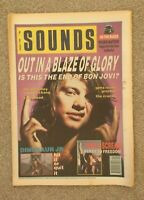 SOUNDS August 4th 1990 Bon Jovi, Primal Scream, Dinosaur JR - Gig Guides, Charts