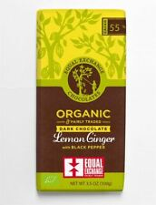Equal Exchange Organic Lemon Ginger & Pepper Chocolate 100g (Pack of 12)