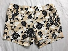 "J Crew City Fit Chino Shorts Womens Size 10 Stretch Floral Low Waist 5"" Inseam"