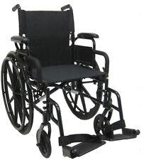 "Karman 802-DY Aluminum Wheelchair 18""x16"" with Swingaway Footrets"