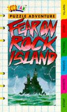 Funfax Fear on Rock Island puzzle adventure book. secrets puzzles. pocket money
