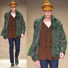 $2,995 RUNWAY Burberry Prorsum Packaway 42 52 Emerald Rain Coat Jacket Men ITALY