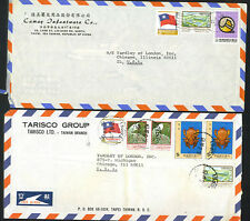 CHINA VIETNAM 1970's FOUR AIR MAIL COVERS TO US AND UK