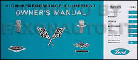 1964-1965 Ford Performance Owners Manual Galaxie 427 and Police Interceptor 390