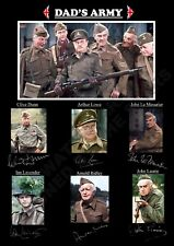 *NEW LISTING* STUNNING DADS ARMY  SIGNED / AUTOGRAPHED PRINT GIFT