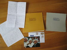 vintage Raffaele Trilli SIGNED LOT letters photo painting / drawing catalog Rome