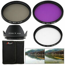 FLD UV CPL Filter Set + Lens Hood 58mm for Canon 6D 7D 50D 1000D 450D 400D LF136