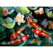 5D Full Drill Diamond Painting Koi Fishes Cross Stitch Kits Embroidery New Sale