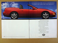 1992 Nissan 300ZX 300-ZX Convertible red car photo vintage print Ad