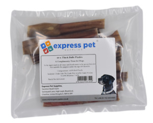 "Thick 5"" (12cm) Bulls Pizzles Sticks 100% Naturally Air Dried Dog Treat Chew"